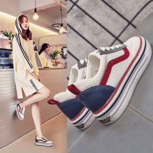 casual shoes female Small white shoes spring 2018 new Korean version of the wild board shoes increased shoes red shoes breathable