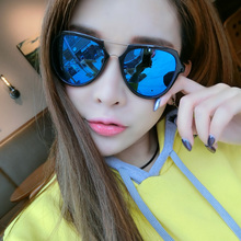 South Korea eyewear 2017 new sunglasses female star eyes round face tide individuality Sunglasses Ms.