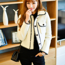 Autumn and winter clothing 2017 Hitz Korean small woolen coat short wool coat small fragrant