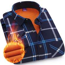 The middle autumn and winter shirt 40 year old dad put 45 men with plaid childe cashmere thermal 50 casual shirt 60