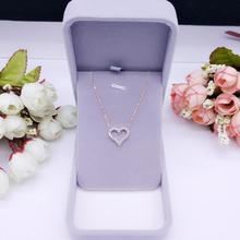 Korean version of the new hollow micro Love Pendant Chain Necklace with clavicle female temperament simple gift of jewelry and accessories