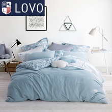 LOVO Carolina textile life produced cotton four set washing cotton fashion bedding bedding set.