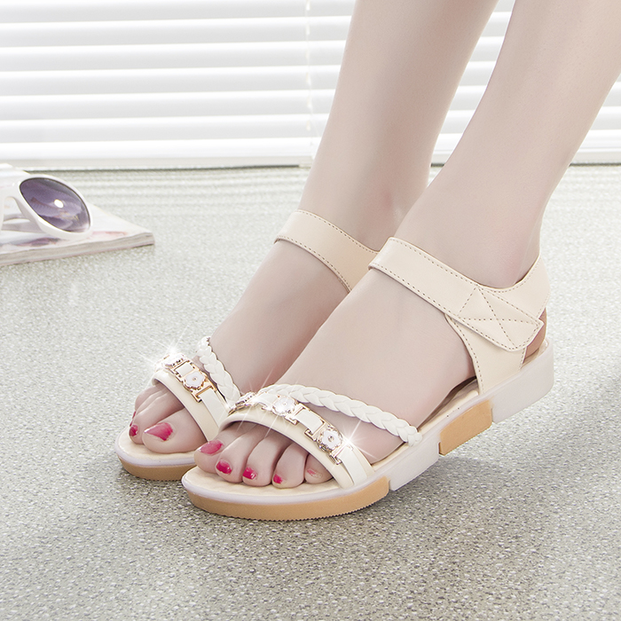 Summer new platform open-toed sandals fashion women's flat shoes with pregnant women flat shoes antiskid students leisure