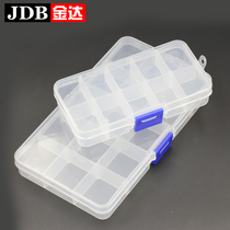 Jinda plastic jewelry storage boxes boxes transparent storage box with lid jewelry lattice boxes