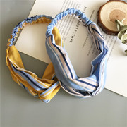 Han edition of cross elastic stripe with South Korea headdress, sweet woman is small and pure and fresh hair band