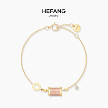 HEFANG Jewelry/Hefang Jewelry Sleeping Princess Bracelet Sterling Silver Women's Simple Fresh and Fine Bracelet Jewelry