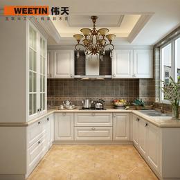 伟天 欧式整体橱柜定做简约开放式厨房厨柜定做装修全屋定制 U型