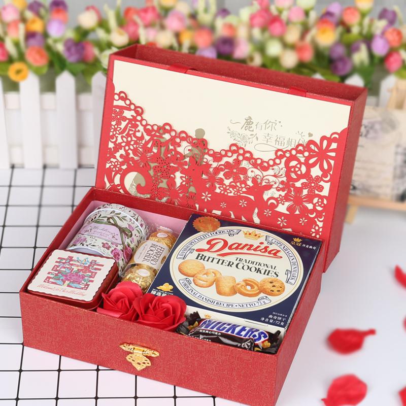 一鹿有你欧式成品含糖创意结婚喜糖婚礼伴手礼回礼订婚套装礼盒
