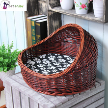 rattan cat litter cat house cat cage rattan wicker kennel pet nest taidibomei summer four seasons universal wash