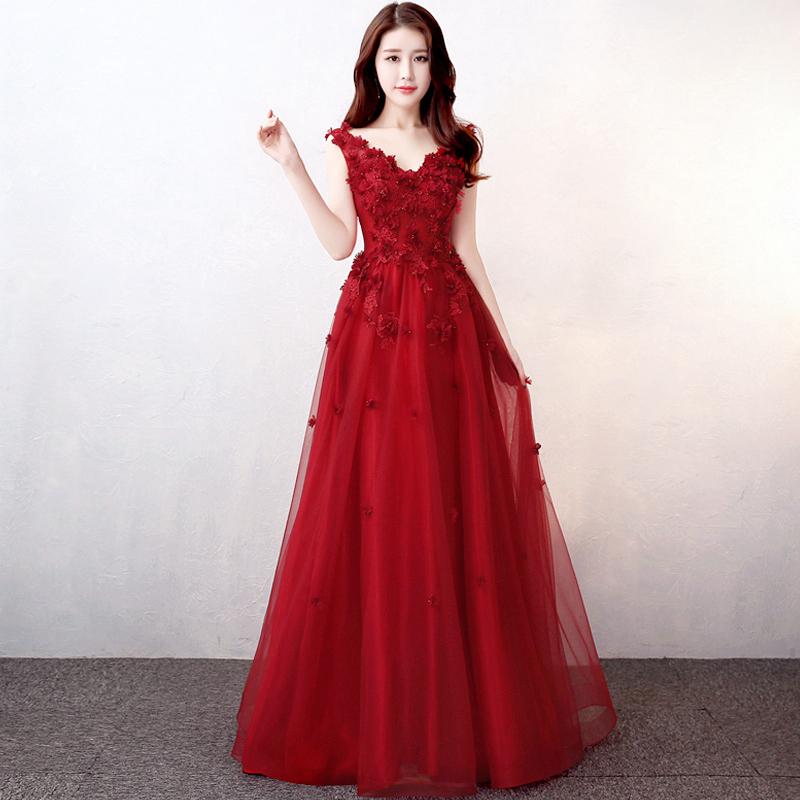 新娘敬酒服红色孕妇2017新款冬季结婚宴会回门年会晚礼服端庄大气