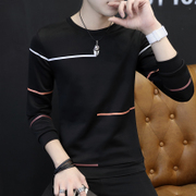 Men's T-shirt Long Sleeve Shirt Mens Clothing Qiuyi winter clothes coat cashmere sweater with thickening trend