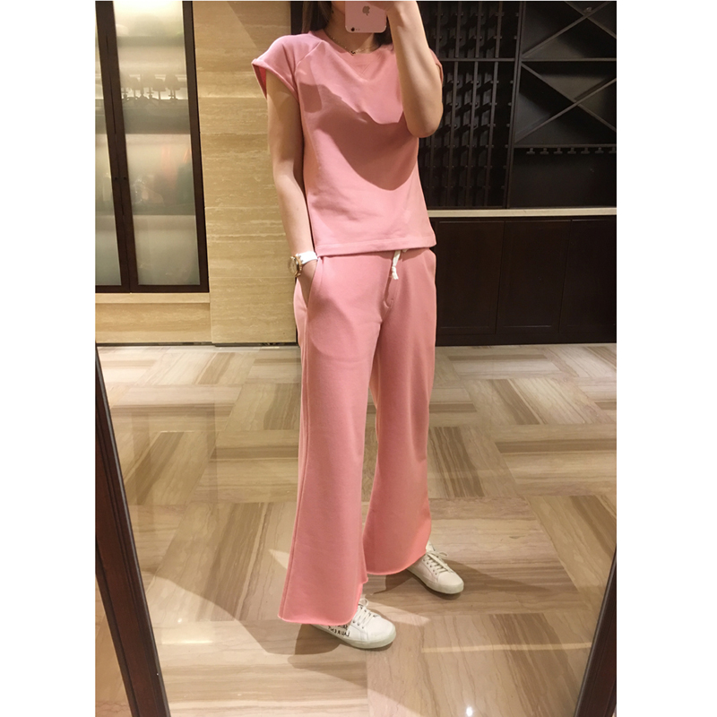 DM went through this set to know how beautiful pink is, and the grey, pink, wide leg pants, casual suits