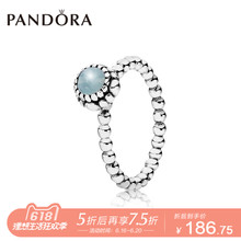 PANDORA Pandora March 925 Silver + Beryl Ring 190854AQ