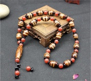 Auction is coming to an end a yuan RMB 3 eyes + 9 eyes days Tibet sky pearl agate beads necklace bracelet for men and women