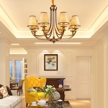 Blue home European style living room lamp American countryside simple bedroom lamps American Iron Chandelier Restaurant