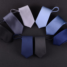 Necktie, man, Korean Edition, zipper, 6CM, business, bridegroom, marry easily, lazy man, narrow edition, small tie, student