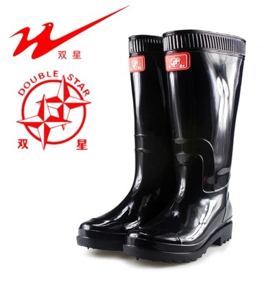 Spring Rain Boots Mens Genuine double tall rubber bottom thickening anti acid oil safety boot industrial boots boots