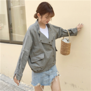Cute ulzzang coat female Korean short spring and autumn student easing Harajuku BF Joker the new 2017