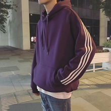Male hooded sweater and the cashmere winter 2017 new trend of Korean students loose bfulzzang sport coat