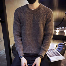 Cashmere sweater and men's personality - winter trend of Korean sweater shirt Polo neck thickening male