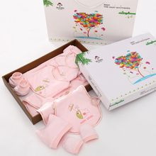 The newborn baby gift bamboo fiber newborn gift set in spring and summer baby full moon baby clothes