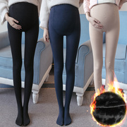 Pregnant women leggings pantyhose winter piece cashmere socks will open new and step on the footrest-bellied Siamese