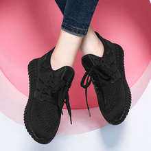 black sports shoes women Gas light running shoes 2018 spring new women's shoes Korean wild summer casual shoes