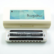 BoogieMan (white) beginners required Bruce ten hole harmonica Blues