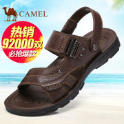 Camel/ camel 2017 summer new leather leather casual shoes men beach shoes sandals slippers