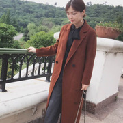 Summer in 2017 the new double coat in the long wool coat cashmere tweed overcoat
