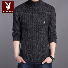 Authentic dandy sweater male winter thickening set first half turtleneck sweater sweater slim men