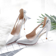 Drill 2017 new shoes shoes golden pointed stilettos shoes silver champagne autumn shoes shoes and the wind