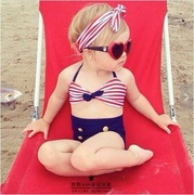 2016 Summer ins explosion baby sexy super cute sailor bikini hair with swimsuit baby girl swimsuit