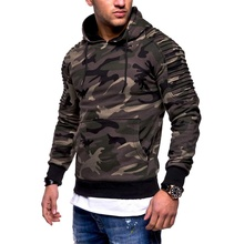 Men hoodies sweatshirt boy camouflage tops tracksuit hooded