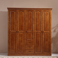 All solid wood wardrobe, Chinese oak, 3456 door wardrobe, bedroom furniture, wardrobe, lockers, walnut