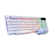 Keyboard and mouse set, computer desktop, USB cable, light-emitting game, key mouse, mechanical feel