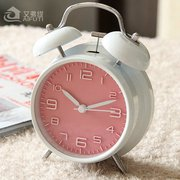 Japan and South Korea metal alarm clock silent night light 4 inch fashion simplified digital alarm clock