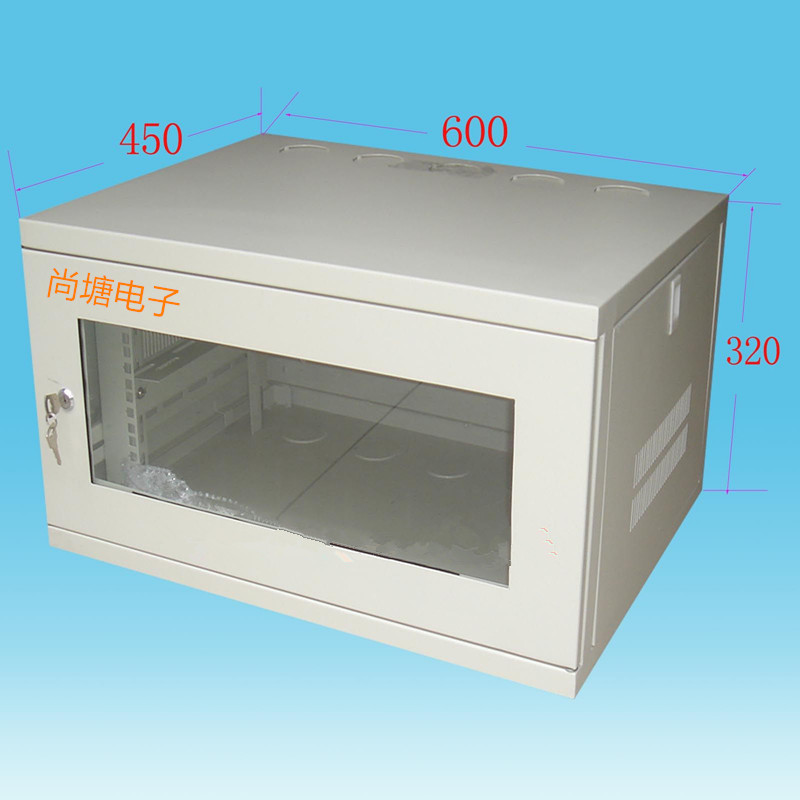 Factory direct 6U hanging type small cabinet wall network cabinet shipped the same day send expansion screws