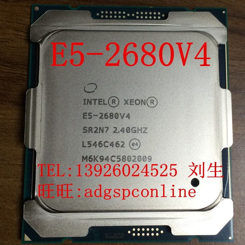 Master Intel XEON E5-2680V4 CPU (2.4GHz/14 nuclear/35M/120W/) cash sale
