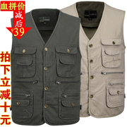In the spring and Autumn period more than old men's cotton vest vest pocket cotton vest vest photographer outdoor fishing