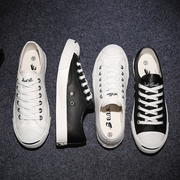 Smiling at the casual shoes leather canvas shoes to help a couple of students of low head Pro Korean white shoes tide