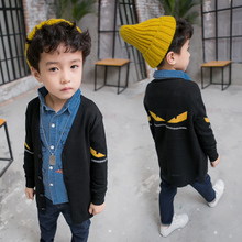 2017 autumn and winter children long sleeved sweater boy sweater small children all-match cardigan coat dress baby boom