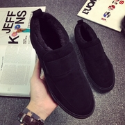 Korean men's shoes and winter new velvet shoes casual shoes high thick warm help sets foot slip-on trend