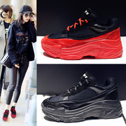 ins super fire shoes women 2017 new plus cashmere women's shoes winter thick-soled shoes Korean Harajuku