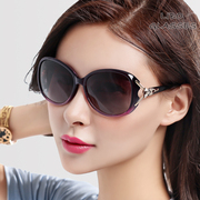 2017 new Polarized Sunglasses lady tide large frame round face long face elegant sunglasses sunglasses glasses