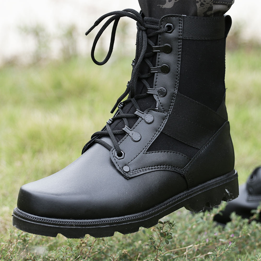 In the summer of 07 combat boots for men training special forces tactical combat boots boots boots boots genuine leather shoes steel head field