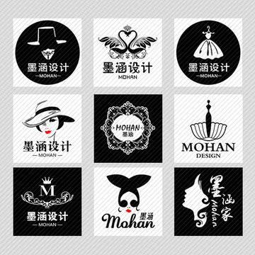 【墨涵人家】淘宝微信qq头像店标设计黑白简约大气古典可爱店标