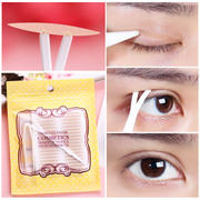 Lace mesh olive shaped double fold eyelid not reflective color seamless natural breathable waterproof binding contact transparent