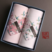 And Mu Ji (Cherry Blossom) ms cotton handkerchief towel handkerchief Sakura thin box