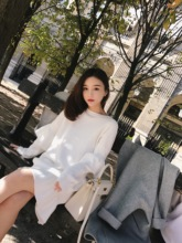 Money madam CHINSTUDIO winter new agaric knit dress female students loose sweater skirt tide
